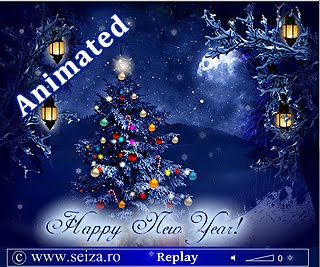 Happy New Year! - tarjeta animada con texto en ingles