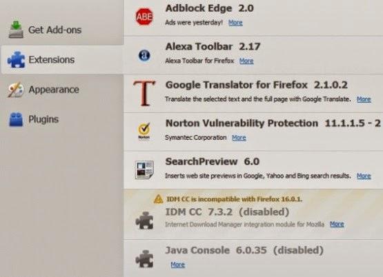 Cara Agar IDM Menjadi Compatible Dengan Firefox Versi Baru
