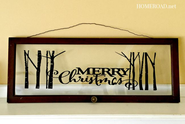 Merry Christmas Decorative Window www.homeroad.net