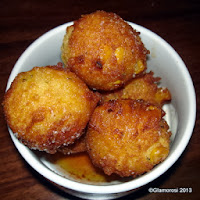 Corn Fritters with Cayenne Honey at Serrano in Philadelphia PA