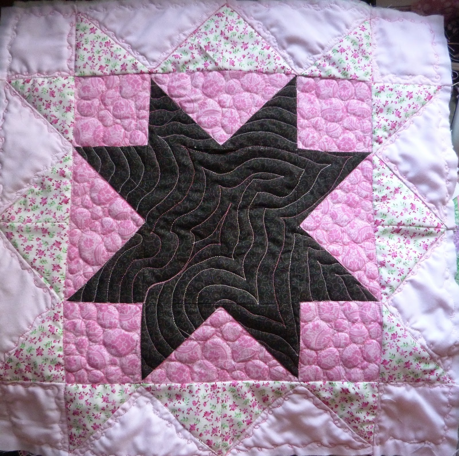 CHQuilts: pink signature block