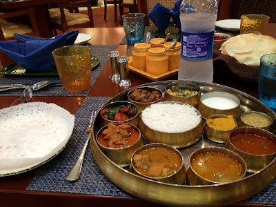 South Indian non-veg thali at Zambar Pune