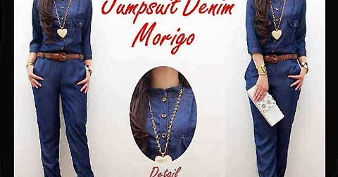 Jumpsuit Denim Hm0286 Fachryzka Shop Fashion Busana