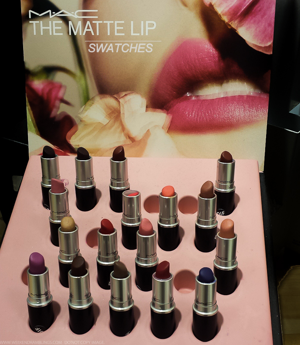 MAC The Matte Lip - Lipsticks - Swatches - Summeri 2015 Makeup Collection