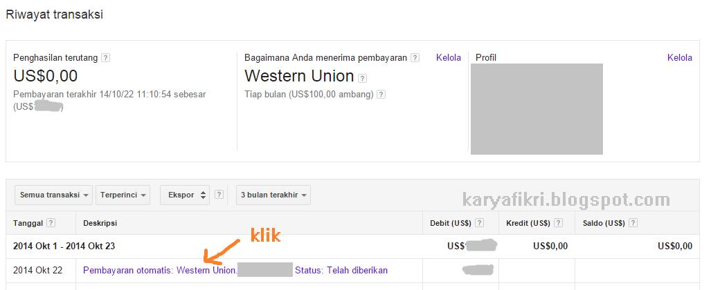 Halaman riwayat pembayaran google adsense (karyafikri.blogspot.com)