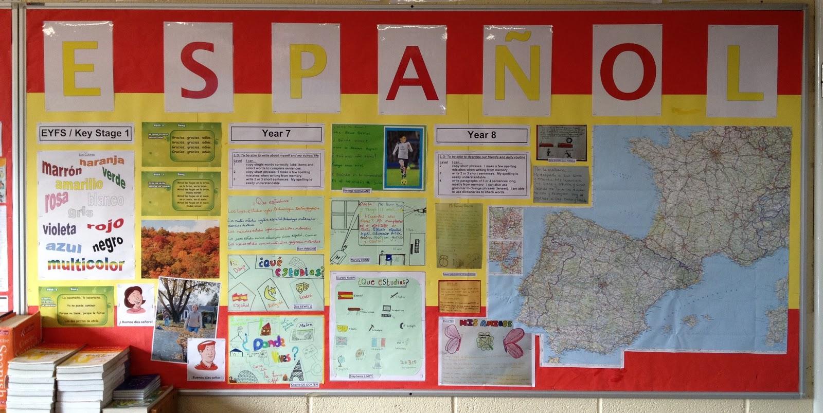 Modern Language Classroom Displays ~ Wis modern foreign languages new classroom displays in room