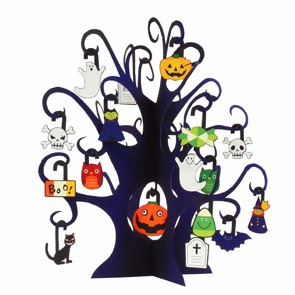 Halloween - Mini Ghost Tree Papercraft