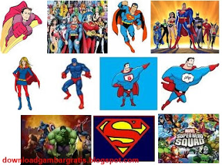 kelection gambar superhero
