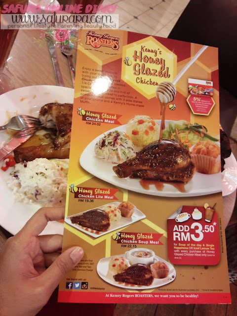Kenny's Honey Glazed Chicken - Menu Baru Kenny Rogers Roasters