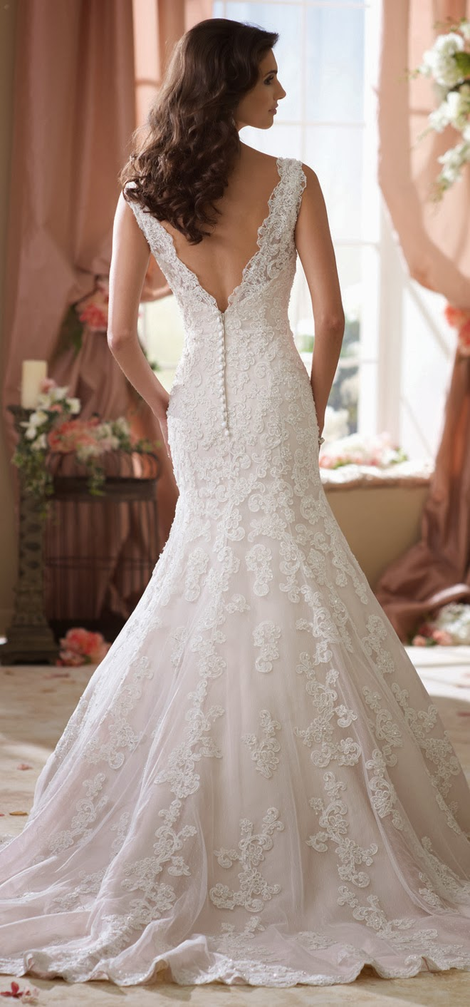 David tutera for mon cheri spring 2014 bridal collection for Mon cheri wedding dresses