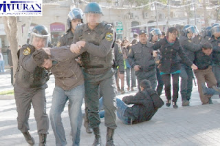 azeri azerbaijani azerbaijan opposition protest clash baku