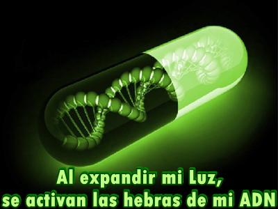 Al expandir mi Luz, se activan las hebras de mi ADN.