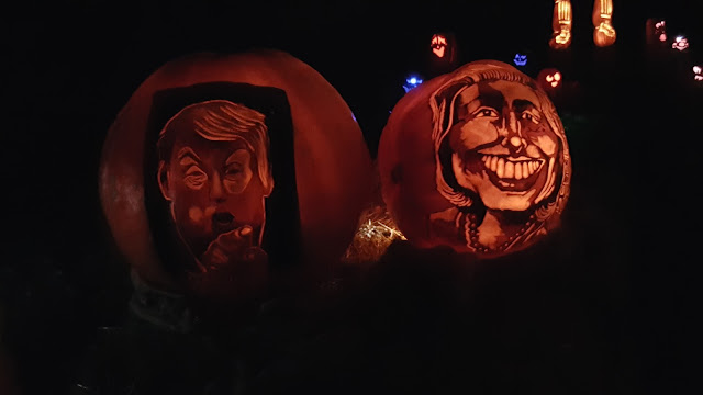 Donald Trump Hilary Clinton Jack O'Lantern
