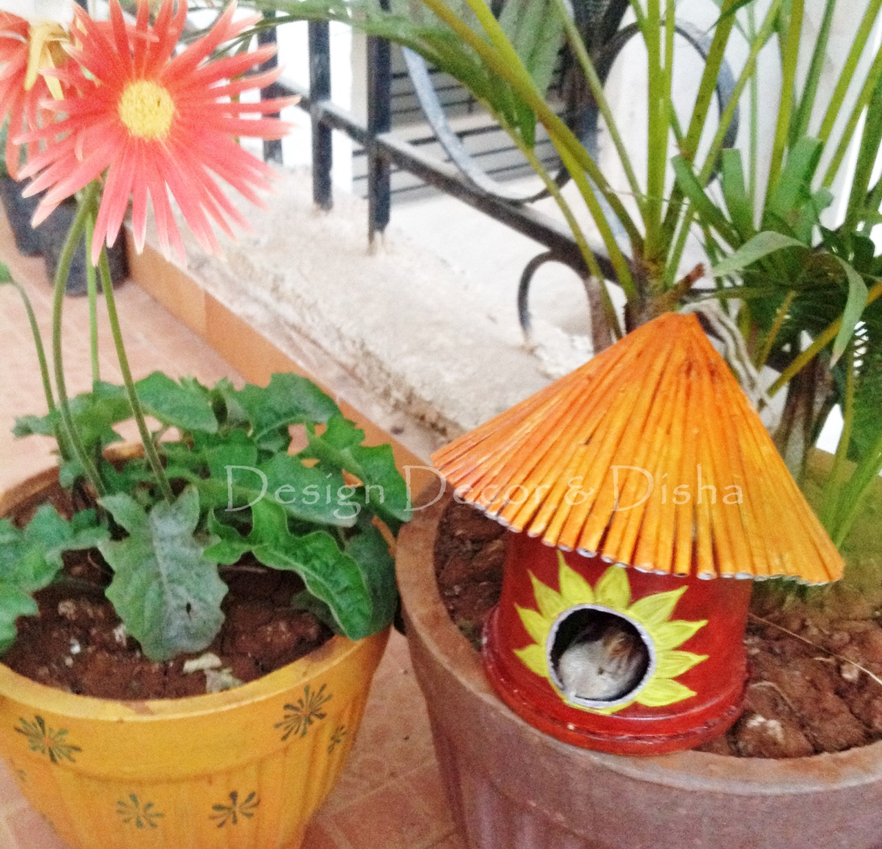Design decor disha diy bird house for Balcony decoration ideas india