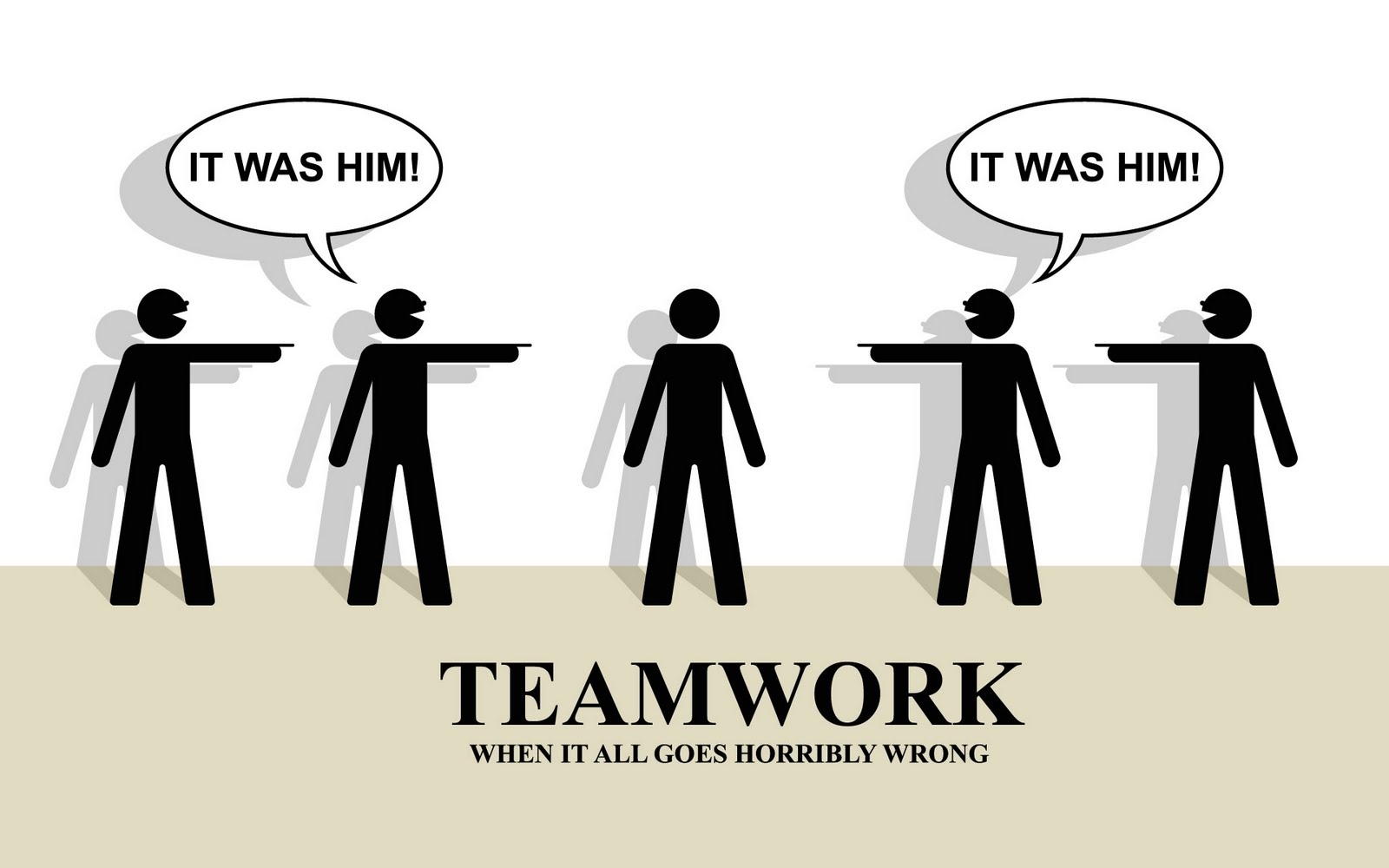 Funny Office Illustrations For Team Work Wallpaper Hd Black