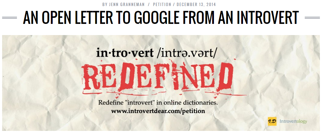 An Open Letter To Google From Introverts