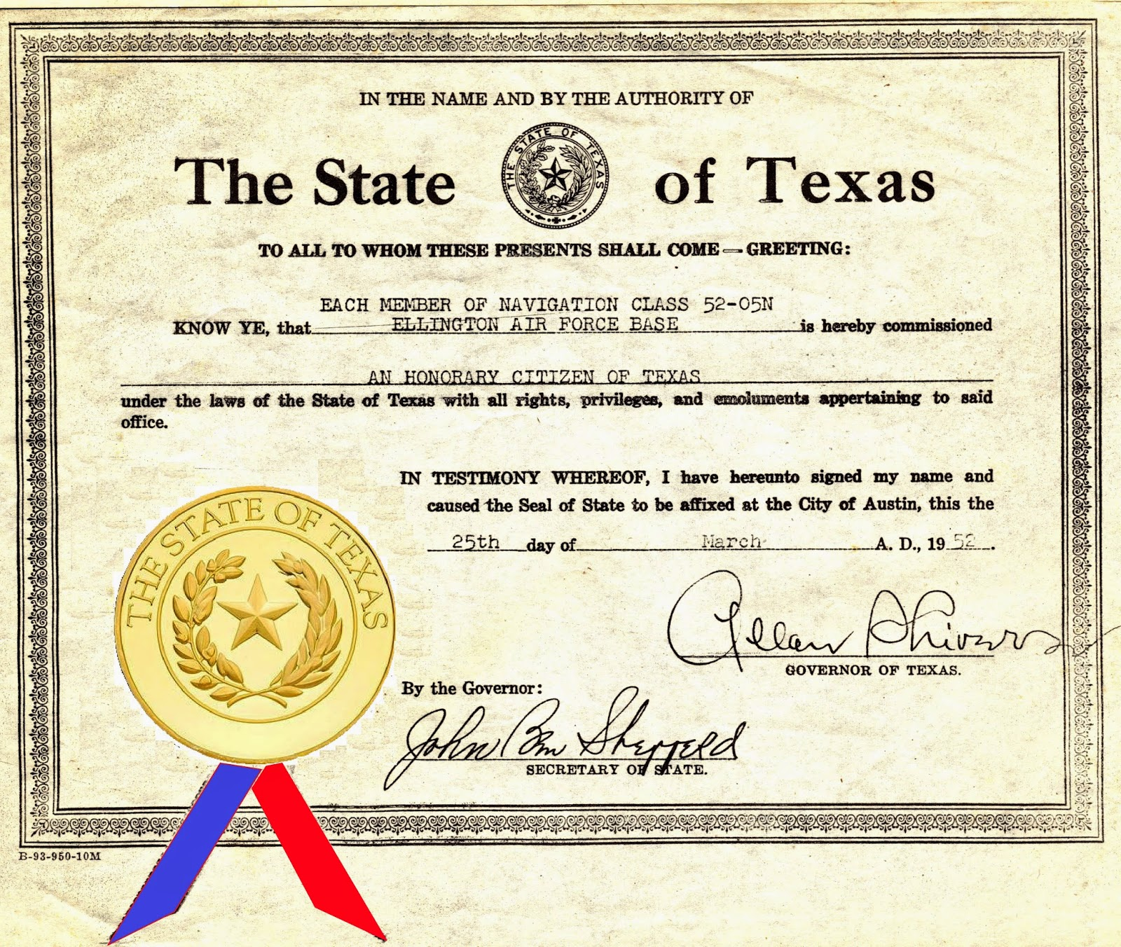 Abt Unk Not So Wordless Wednesday Honorary Texas Citizen