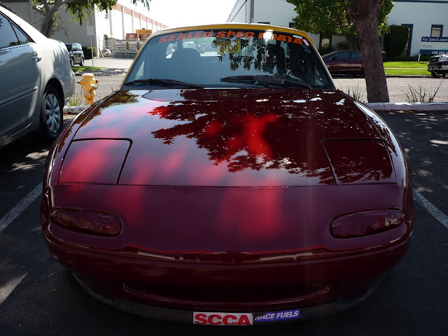 Mazda Miata ready to race after from Almost Everything Auto Body