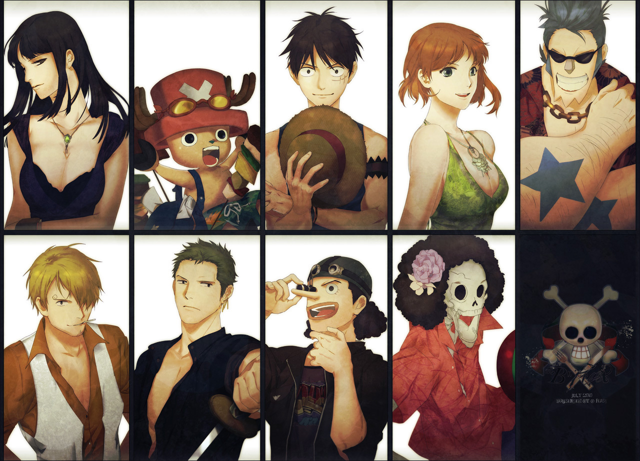 Nico Robin Chopper Luffy Nami Franky Sanji Zoro Usopp Brook Straw Hat Pirates One Piece Anime