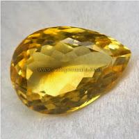 Batu Permata Yellow Citrine