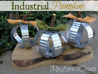 Industrial Pumpkins at MyLove2Create