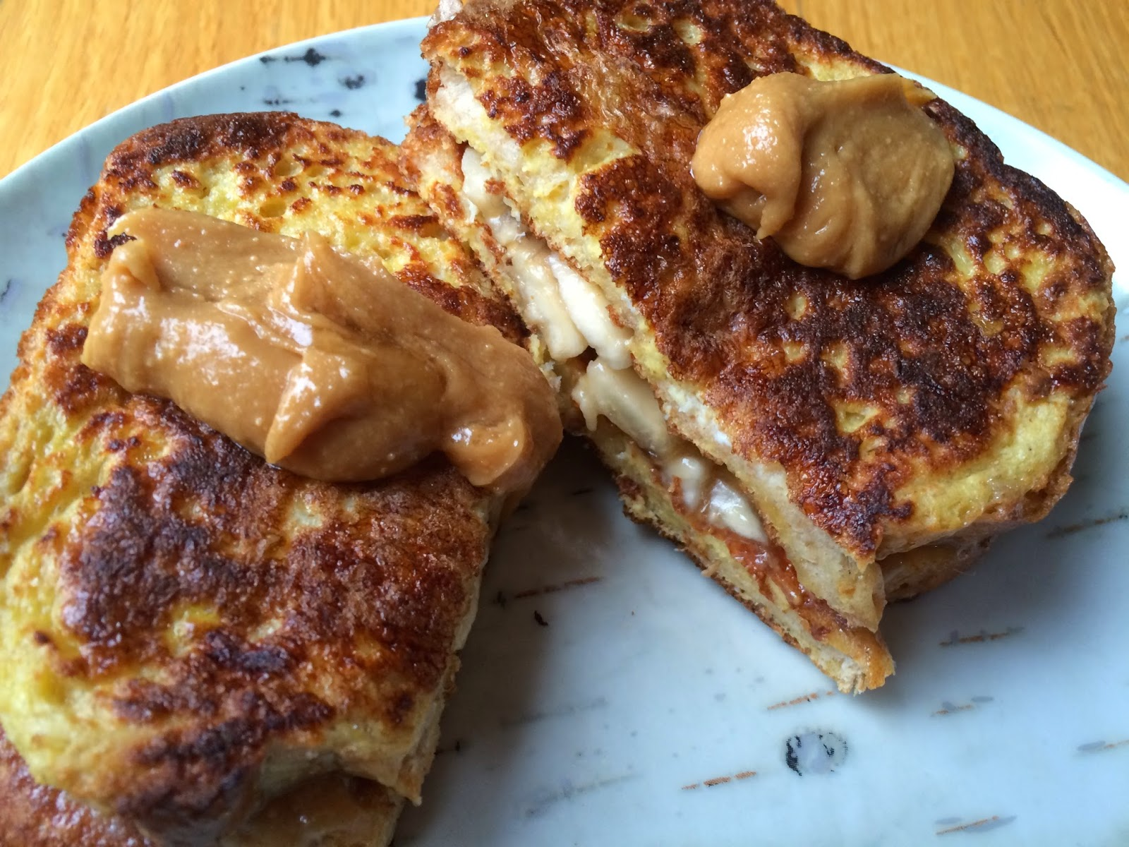 Clean Eating Peanut Butter and Banana French Toast