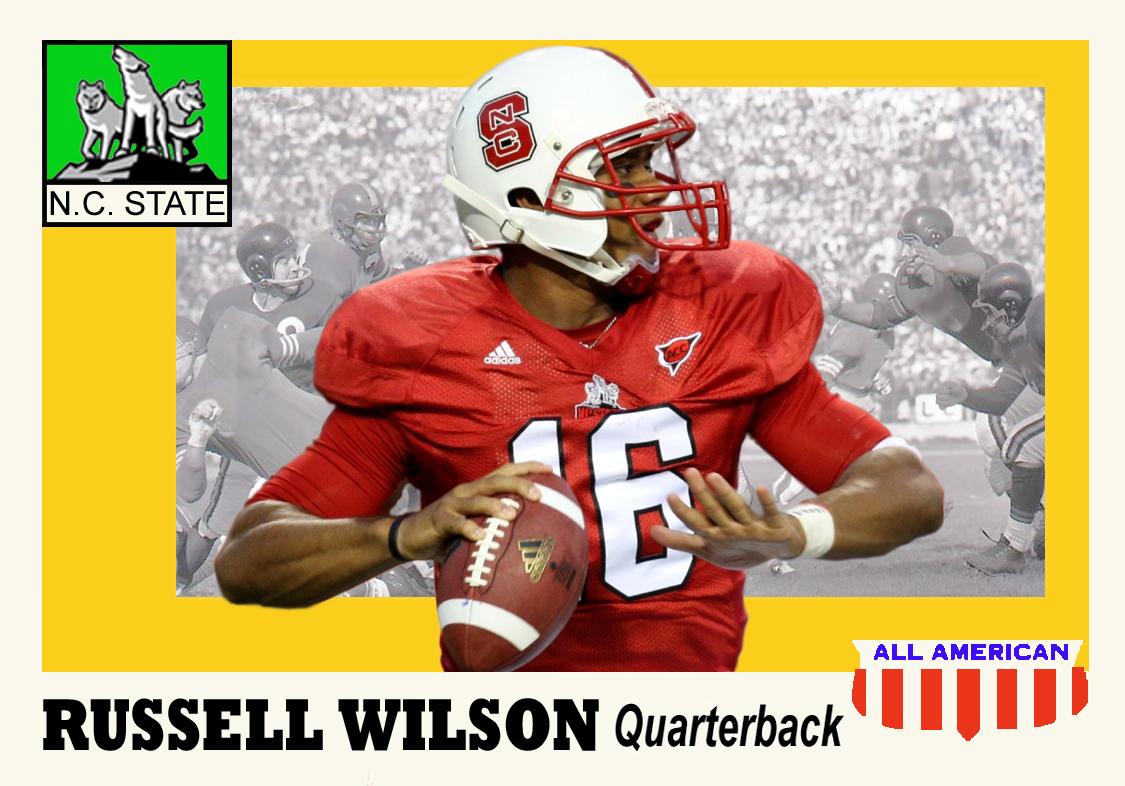 Russell wilson baseball card 2014