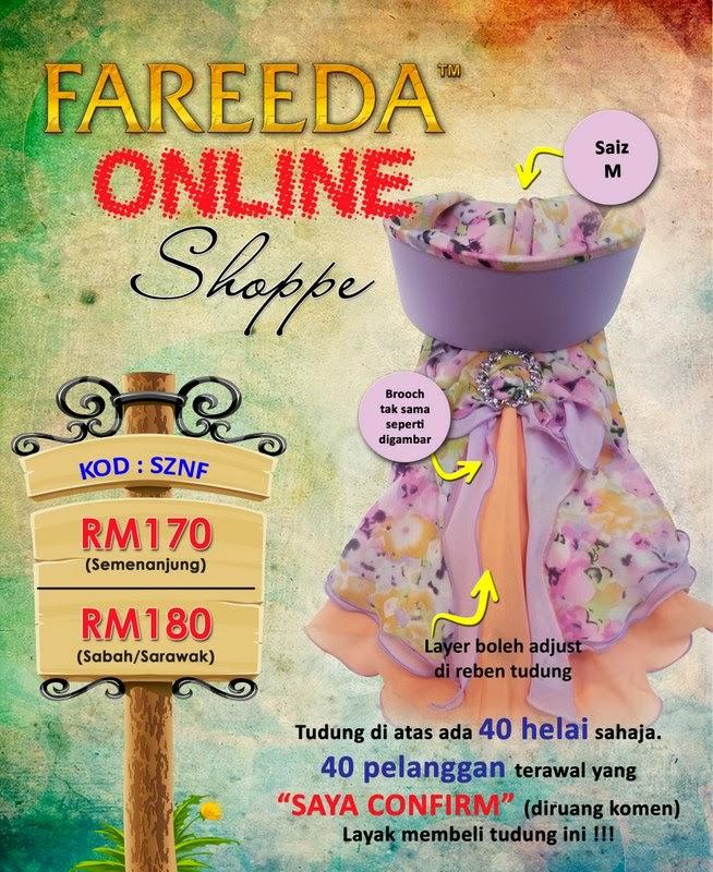 Cantik-cantik tudung Fareeda. Bisnes tudung nampaknya tidak merugikan