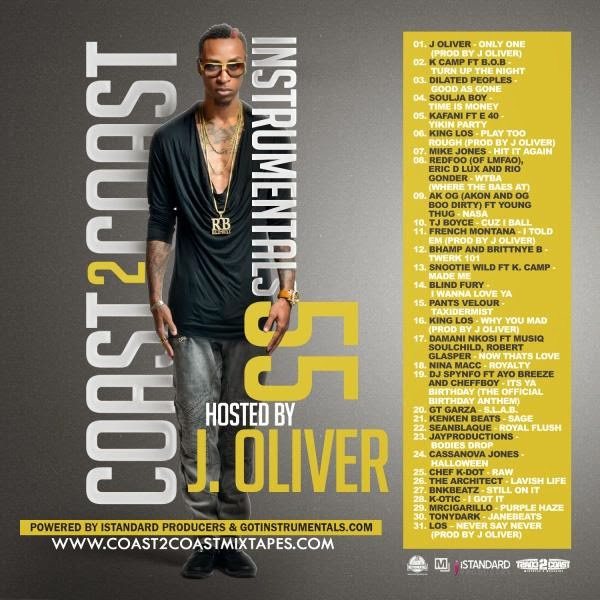 Coast 2 Coast Instrumentals vol. 55 Hosted by J. Oliver mixtape cover album image
