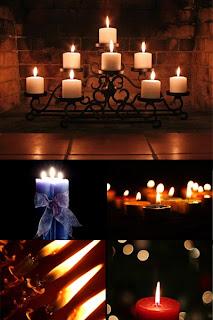 свечи обои