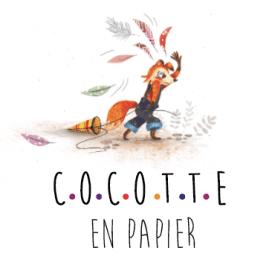 Cocotte en papier illustratrice