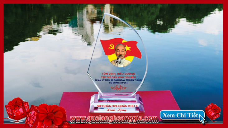 Món quà sang trọng dành cho hội nghị điển hình tiên tiến bằng pha lê  lại ý nghĩa về mặt phong thủy với chiếc Kỷ niệm chương cánh buồm