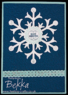 Adorable Snowflake Christmas Card by Bekka www.feeling-crafty.co.uk