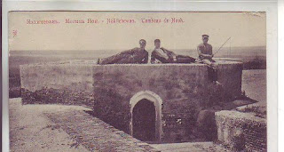 az azeri grave noah nakhichevan aramyan postcard armenian ark bible