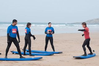 Quicksilver surf school Newquay