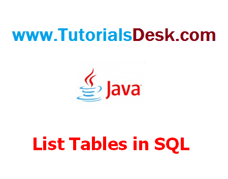 How to get list of tables in SQL Server