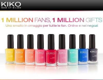 KIKO smalto nail lacquer - OMAGGIO - gratis - concorso - facebook