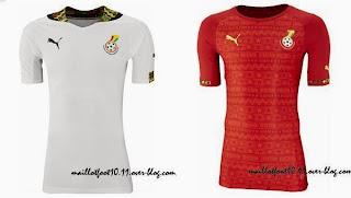 Le maillot du Ghana de la Coupe du monde 2014