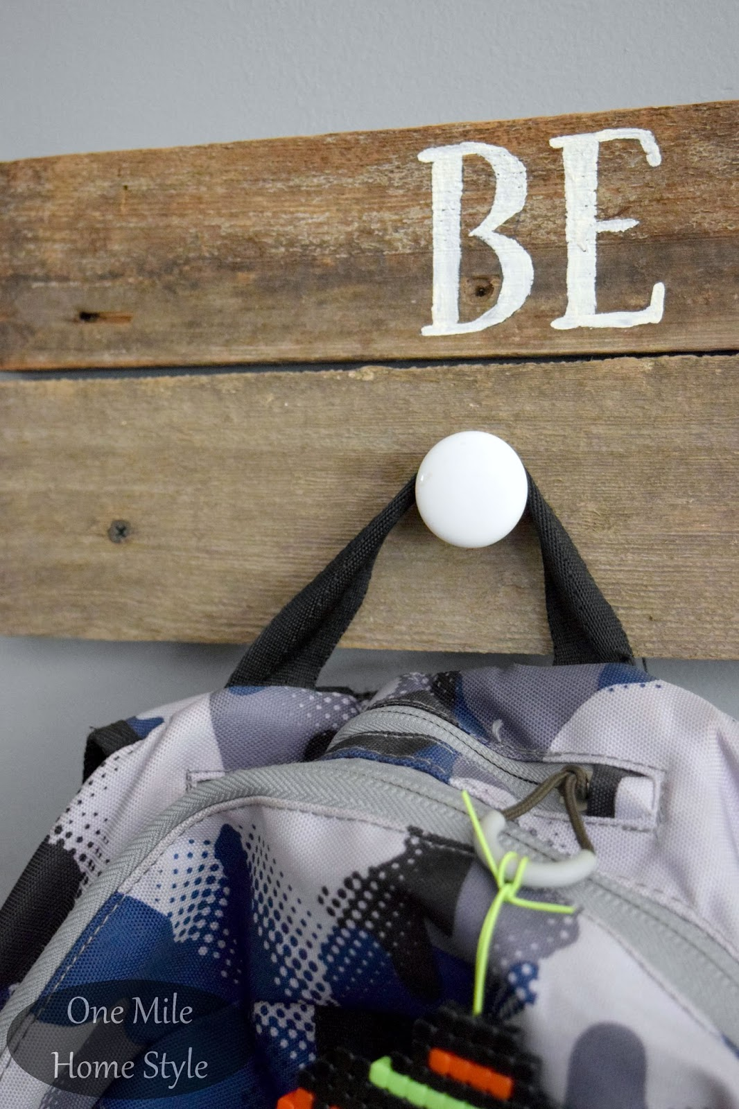DIY Reclaimed Wood Backpack Hangers From Barnwood And Glass Knobs   One  Mile Home Style
