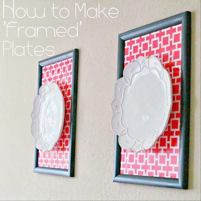 How to make 'Framed' Plates | It's Always Ruetten