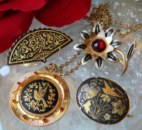 damascene jewelry