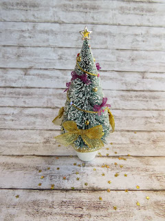 Christmas tree in miniature for dollhouse