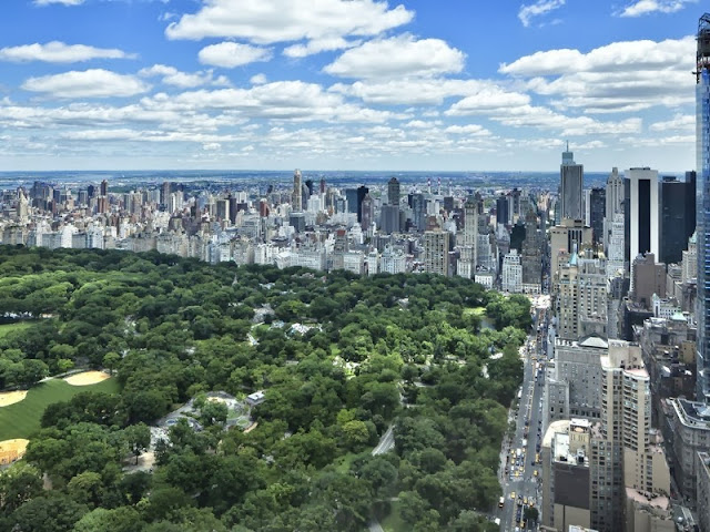 view of central park from an NYC penthouse