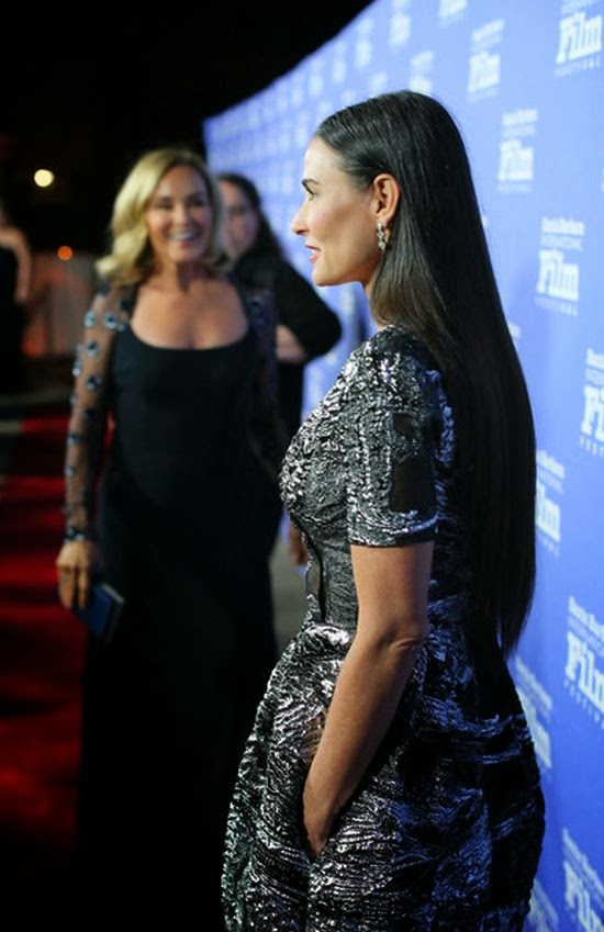 It's only fitting that we honor her special day by basking in the glory. If you are agree and well, we already know you do as Demi Moore strolls to the event at the Santa Barbara Film Festival on Sunday, November 16, 2014.