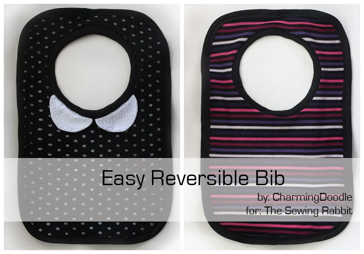 Easy Reversible Bib, with Free Pattern - The Sewing Rabbit