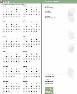 calendario pequeña empresa