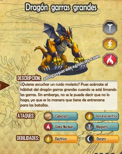 imagen de las caracteristicas del dragon garras grandes