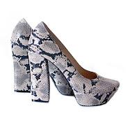 pantofi animal print cu toc gros
