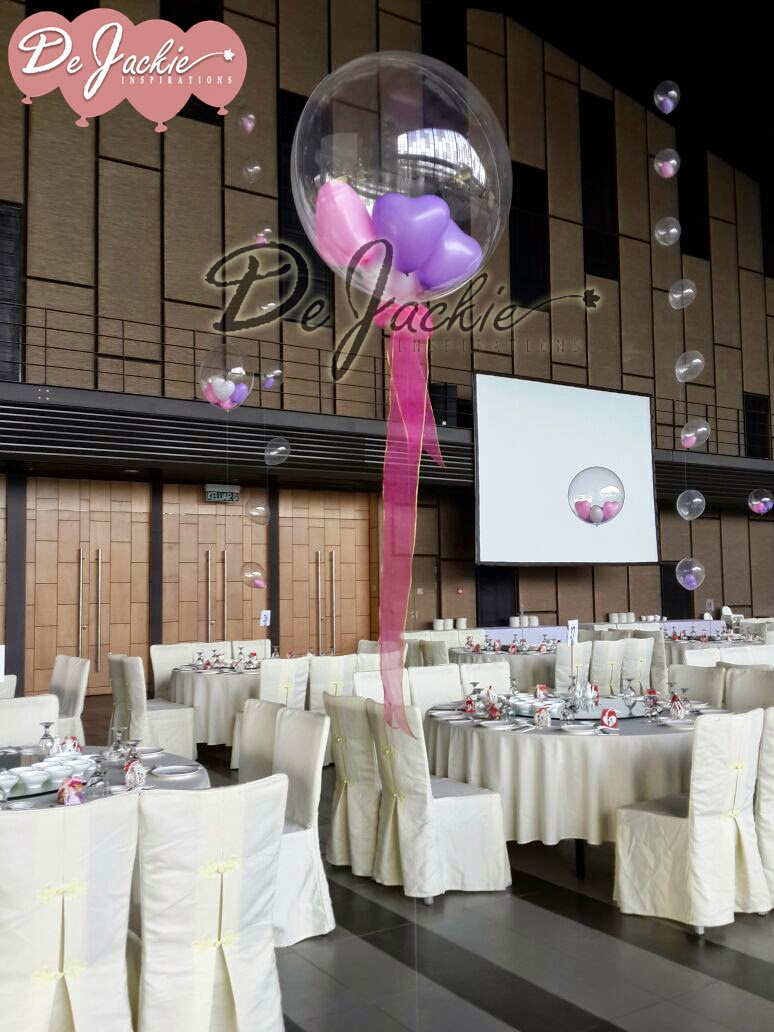 Balloon decorations for weddings birthday parties balloon pink lilac themed wedding decoration kts garden kuching junglespirit Image collections