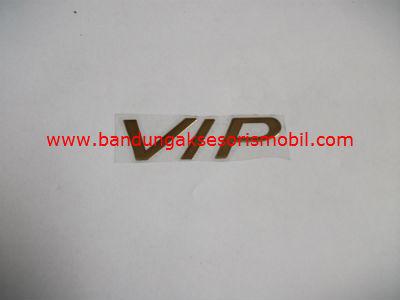 Emblem Alumunium Kecil Gold VIP